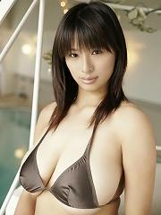 Hana Haruna big breasted asian girl with k cup tits