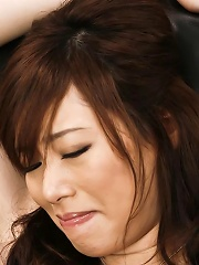 Keito Miyazawa Asian has pussy fucked with sex toys through thong