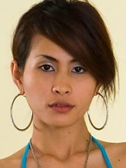 Thai slut showing off her pierced pussy!