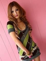 Sexy Japanese Shino Kanou in little dress